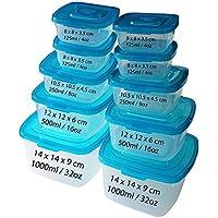 Kurtzy 10 pzas Plástico Caja de Picnic Portátil  - Tamaños Variados Fiambreras - Set de Recipientes para Alimentos Perfecto para  picnics y mucho más