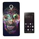 002375 - Cool neon electric lights skull face trance dance