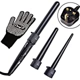 Ckeyin 3 In 1 Curling Wand Set, Ckeyin Ceramic Curling Iron Wand With