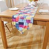 Camino de mesa Corredor de tabla europeo estilo grueso color cuadrados Corredor de tabla de lino de algodón Corredor de tabla arpillera larga mesa de comedor decoración de lino Decoración hogareña ( Size : 30*200cm )