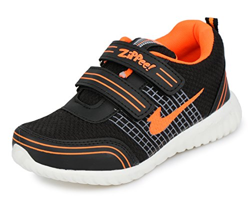 TRASE Zippie-HY Black/Orange Kids Sports Sho…, INR 479.00