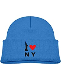 WYICPLO Infant Toddler Baby Kids Knitted Beanies Hat I Love NY New York  Winter Hat Knitted 7d739b4df141