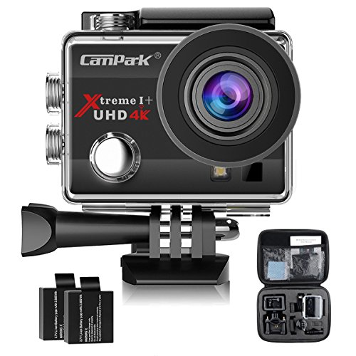 Galleria fotografica Campark 4K Action Cam WIFI Sport Action Camera Full HD 16MP 170° Grandangolare 2.0 Pollici (Custodia Professionale + Batteria di Ricambio)