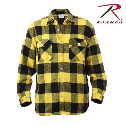 rothco-yellow-extra-heavyweight-brawny-buffalo-plaid-flannel-shirt-size-x-large