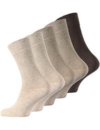 Lot de 10 paires de chaussettes pour hommes, d'origine de VCA®. Couleur: marron différente.