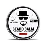 Bartbalsam,Duvina Beard Balm Bart-Conditioner Bio natürlicher Schnurrbart Creme Stärke & Erweicht Bärte