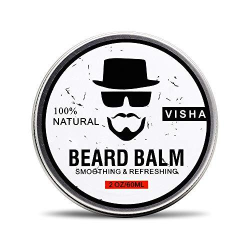 Bartbalsam,Duvina Beard Balm Bart-Conditioner Bio natürlicher Schnurrbart Creme Stärke & Erweicht Bärte & Schnurrbärte- Leave in Conditioner Bartpflege für Männer