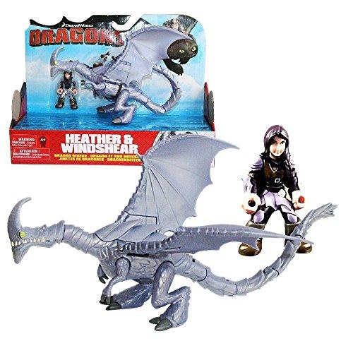 Dragons - Action Spiel Set - Drachen Windfang & Reiter Heidrun