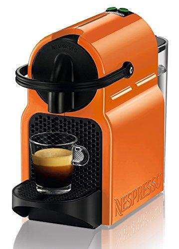 Nespresso Inissia CAFETERA CAPSULA DELONGHI EN80.O AUTOMATICA Flow Stop, 1260 W, 0.8 litros, Acero Inoxidable, plástico, Naranja