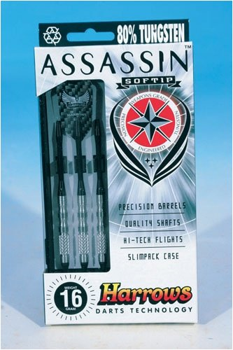 HARROWS Assassin 85% Dart Softtip (16) (Harrows Assassin Darts)