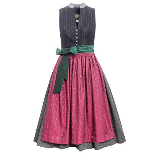 Hammerschmid Damen Trachten-Mode Midi Dirndl Tegernsee in Schwarz traditionell