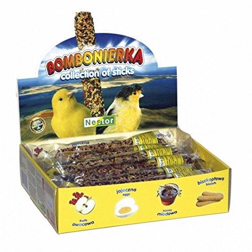 Mangime per uccelli, leccornie per canarini a forma di bastoncino da sgranocchiare, confezione da 12 pezzi