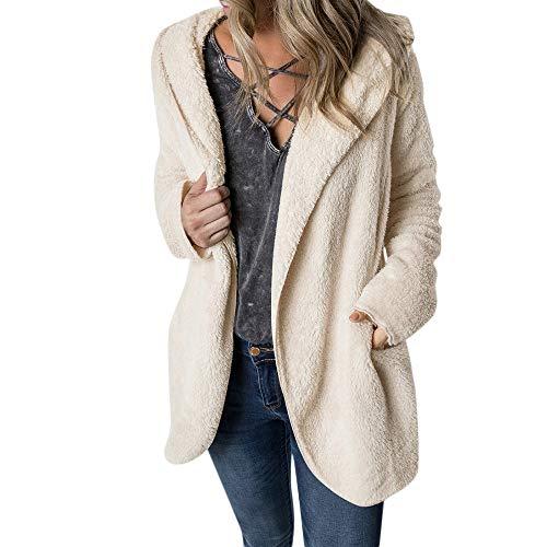 (Luckycat Frauen Wintermantel halten warme Oberbekleidung Hoodie Faux Pelzmantel Outwear Jacken Mäntel Sweatjacke Winterjacke Fleecejacke Steppjacke)