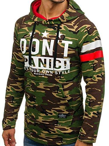 BOLF Herren Pullover mit Kapuze Sweatshirt Langarmshirt Sweatjacke Militär  Army Camo Muster 1A1 Grün 1174 ... d428852bb3