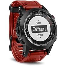 Garmin Fenix 2 Edición Especial - Reloj con GPS, color negro / rojo