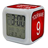 Koolart Manchester United Multi Image Digital LED Alarm Clock - Light up colours