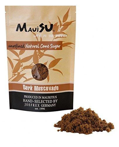 MauiSu – Dark Muscovado Rohrzucker – 500g – ohne Zusatzstoffe – dunkler Rohrzucker