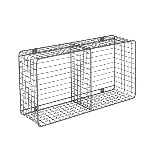 Wire Bin-rack (Spectrum Diversified Vintage Wall Mount Office or Entryway Wire Basket Cube Rack Station One Industrial Gray)