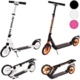 Ultimate iScoot© X50 Adult City Push Kick Scooter with Large 200MM Wheels, Dual Front and Rear Spring Comfort Suspension, Kick Stand, Mud / Rain Guards and Folding Frame with Carry Stray - Easy to Carry Light Weight Aluminium Kickboard