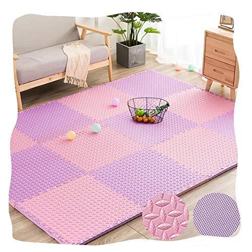 JIAJUAN-Puzzlematte Baby Quadrat Kinder Ineinandergreifend Schaum Abspielen Matten Zuhause Wohnzimmer Fußboden Bunt Fliesen Puzzle Übung Matte (Color : A, Size : 60x60x1cm-8 pcs) (Fliese 8 Quadrat X 8)