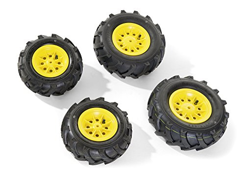 #rolly toys 409860 – rollyLuftbereifung für Traktoren 2 x 260×95, 2 x 325×110, gelb#