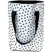 wasserabweisender Shopper - Beutel - Einkaufsbeutel - Badetasche - Tote bag aus Wachstuch Lunares weiss