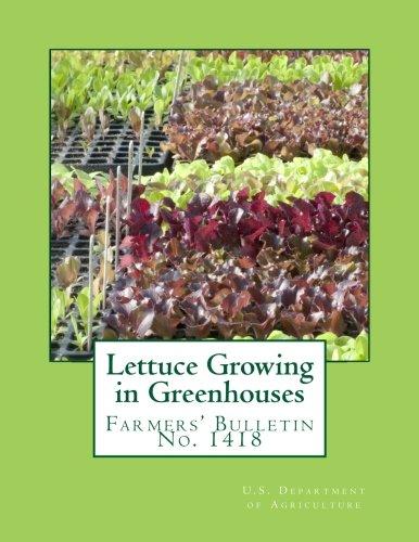 Lettuce Growing in Greenhouses: Farmers' Bulletin No. 1418