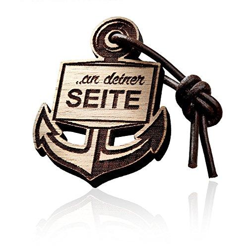 2er Set Schlüsselanhänger Anker aus Holz mit Gravur. Ein Leben lang……