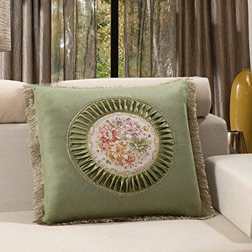 versione europea contenente cuscino decorativo, cuscino ricamato con frange divani in mogano cuscini, stampe floreali letto allergia cuscino di memoria , coffee - Tessuto Nappa Set