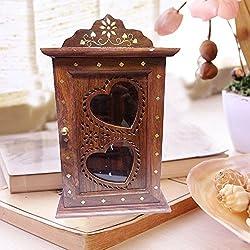 scatola chiave di legno, disegno del cuore porta singola con intarsio gabinetto chiave di sicurezza, cassette di sicurezza fondamentali, Rack Key. Regali speciali a Venerdì Santo.