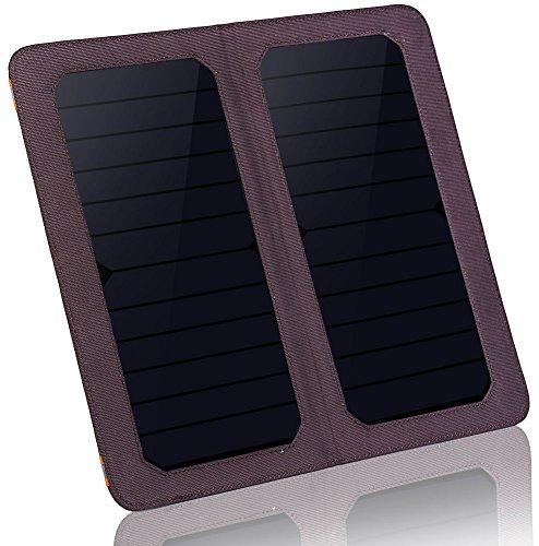 HOWO Faltbaren Solarpanel Tasche Portable Solar Ladegerät Pack-Kits für iPhones, iPads, Samsung Galaxy Handys, andere Smartphones und Tablets, Gopro Kameras und mehr (Violett)