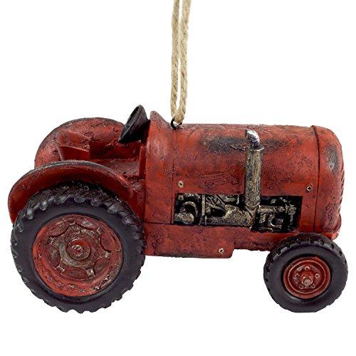 Dekorativever Nistkasten Vogelhaus Roter Traktor Garten Deko zum Hängen (Garten Traktor)