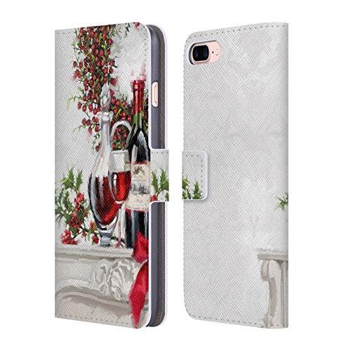 Ufficiale The Macneil Studio Ghirlanda Decorazioni Natalizie Cover a portafoglio in pelle per Apple iPhone 6 Plus / 6s Plus Vino Decantato