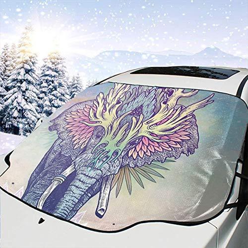 Lilyo-ltd Spirit - Parasol para Parabrisas de Coche, diseño de Elefante