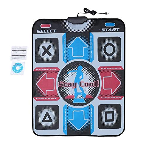 Peanutaod rutschfeste, langlebige, verschleißfeste Tanzschritt-Tanzmatte Pad Pads Dancer Blanket to PC Mit USB Für Bodybuilding Fitness (Ddr Pad Pc)