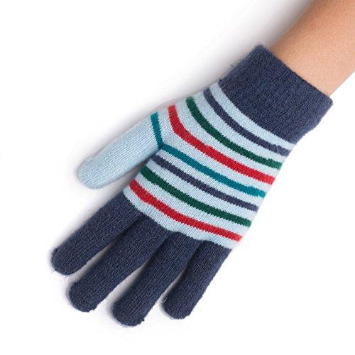 Guanti termici di donna/ guanti di maglia di lana/Guanti a strisce-E Unica