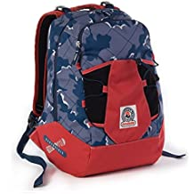 ZAINO INVICTA - TRICK 360 - Camouflage Blue Rosso 2