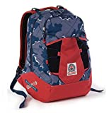 ZAINO INVICTA - TRICK 360 - Camouflage Blue Rosso 2 zaini in 1 reversibile - scuola e tempo libero - 24 LT