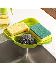 HOME CUBE Plastic Washing Holder Organizer Tray for Kitech Tools(Multicolour, 21.3 20.5x5.8cm)