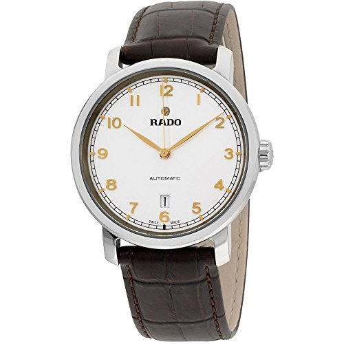 Rado Men's DiaMaster 41mm Leather Band Steel Case Automatic Watch R14077136