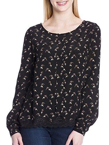 Vive Maria Sweet Swallow Bluse schwarz Allover-Print Black