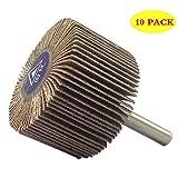 bardland 40x 25x 610x lija papel de lija 60grano de discos rueda de aleta para Dremel herramientas rotatorias