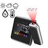 #4: EASELIFE Premium Quality Digital Projection Alarm Clock Weather Forecast/Time/Date/Humidity/Temperature/Calendar Snooze Function (8190)