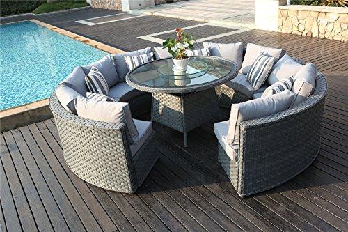 10 Seater Garden Furniture Yakoe 50144 monaco 10 seater round rattan outdoor patio garden yakoe 50144 monaco 10 seater round rattan outdoor patio garden furniture workwithnaturefo