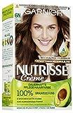 Garnier Nutrisse Creme Coloration Dunkelblond 6N für permanente Haarfarbe, 3er Pack