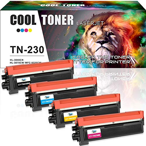 Cool Toner 4 Packs Kompatibel für Brother Toner TN230 TN-230BK TN-230C TN-230M TN-230Y for Brother HL3040CN MFC-9320cw Toner Brother HL 3045CN 3075CW MFC-9010CN 9120CW 9320CW 9125CN 9325CW - Hl-3075cw Laser-drucker