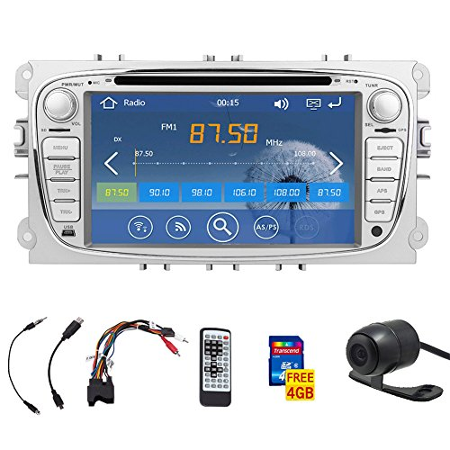 7-Zoll-Touchscreen Autoradio DVD GPS navi Autoradio Radio F¨¹r Ford Focus 2008-2010 FAST 800-MHz-CPU integrierte Bluetooth FM AM-Radio iPod Audio Headunit + 4GB Standard-GPS Map Karte + freier HD-Kamera hinten Bluetooth-cpu