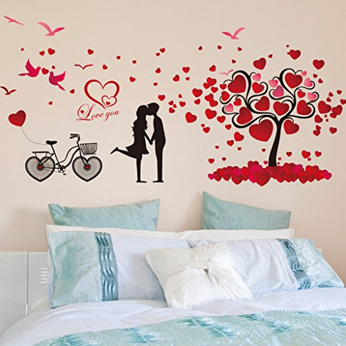 Aoligei Red Liebe Baum Kreative Wohnzimmer Schlafzimmer Dekoration Wandaufkleber