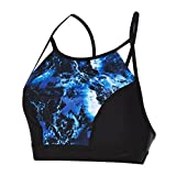 Speedo Damen Stormza Crop Top, Black/Fluo Orange, M