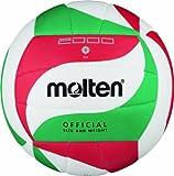 Molten  Ball Molten Top Training Volleyball Gr. 5, Weiß/Grün/Rot, 5, V5M2000
